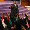 In this Wednesday, Nov. 7, 2007 photo, Rev. Creflo Dollar gives his Wednesday night service at World Changers Church International, in College Park, Ga. Dollar has been arrested after authorities say he slightly hurt his 15-year-old daughter in a fight at his metro Atlanta home. Fayette County Sheriff\'s Office investigator Brent Rowan says deputies responded to a call of domestic violence at the home around 1 a.m. Friday, June 8, 2012. Rowan says the 50-year-old pastor and his daughter were arguing over whether she could go to a party when Dollar