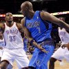 Dallas\' Lamar Odom (7) passes the ball around Oklahoma City\'s\' Kevin Durant (35) during a preseason NBA game between the Oklahoma City Thunder and the Dallas Mavericks at Chesapeake Energy Arena in Oklahoma City, Tuesday, Dec. 20, 2011. Photo by Bryan Terry, The Oklahoman