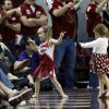 Little fans celebrate as the University of Oklahoma Sooner (OU) men defeat the Kansas State Wildcats (KS) 86-73 in NCAA, college basketball at The Lloyd Noble Center on Saturday, Feb. 22, 2014 in Norman, Okla. Photo by Steve Sisney, The Oklahoman