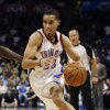 Oklahoma City Thunder\'s Kevin Martin (23) drives as the Oklahoma City Thunder play the Atlanta Hawks in NBA basketball at the Chesapeake Energy Arena in Oklahoma City, on Sunday, Nov. 4, 2012. Photo by Steve Sisney, The Oklahoman
