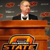 Oklahoma State president Burns Hargis speaks during a press conference about an Arkansas plane crash that killed women\'s basketball coach Kurt Budke, assistant coach Miranda Serna at Gallagher-Iba Arena in Stillwater, Okla., Friday, Nov. 18, 2011. Photo by Sarah Phipps, The Oklahoman