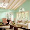 Photo - Say hello to ?Aloe.? The minty-green-leaning-toward-blue shade featured on these walls is Sherwin-Williams 2013 Color of the Year. ?It?s fresh, fun, optimistic, hopeful, and not downbeat,? said Jackie Jordan, the paint company?s director of color marketing. Photo courtesy of Sherwin-Williams.