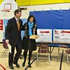 Virginia Republican senate candidate George Allen, and his wife Susan, vote in their home precinct in the Mount Vernon area of Fairfax County, Va., Tuesday, Nov. 6, 2012. (AP Photo/J. Scott Applewhite)