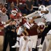 Oklahoma Sooners\'s Demontre Hurst (6) tries to intercept a pass intended for Baylor Bear\'s Terrance Williams (2) during the the second half of the college football game where the University of Oklahoma Sooners (OU) defeated the Baylor University Bears (BU) 42-34 at Gaylord Family-Oklahoma Memorial Stadium in Norman, Okla., Saturday, Nov. 10, 2012. Photo by Steve Sisney, The Oklahoman