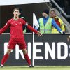 Portugal\'s Cristiano Ronaldo celebrates scoring the opening goal during the World Cup qualifying playoff second leg soccer match between Sweden and Portugal in Stockholm, Sweden, Tuesday, Nov.19, 2013. (AP Photo/Frank Augstein)