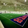 UNIVERSITY OF KANSAS, INDOOR PRACTICE FACILITY: The Anschutz Pavilion is Kansas' indoor training facility. New turf was installed in 1999. PHOTO PROVIDED ORG XMIT: 0806132205411973
