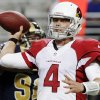 Arizona Cardinals quarterback Kevin Kolb throws during the first quarter of an NFL football game against the St. Louis Rams, Thursday, Oct. 4, 2012, in St. Louis. (AP Photo/Seth Perlman)