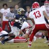 Heritage Hall\'s Sterling Shepard looks to get past Davis\' Chance Griffin during the high school football game between Davis and Heritage Hall in Oklahoma City, Okla., Friday, Sept. 16, 2011. Photo by Sarah Phipps, The Oklahoman