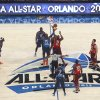 Eastern Conference\'s Dwight Howard (12), of the Orlando Magic, and Western Conference\'s Andrew Bynum (17), of the Los Angeles Lakers, reach for the opening tip at the NBA All-Star basketball game, Sunday, Feb. 26, 2012, in Orlando, Fla. (AP Photo/Lynne Sladky) ORG XMIT: DOA121