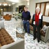RENOVATE / RENOVATION / APARTMENTS: Robert Sieber\'s grandchildren Ray McMinn, left, and Joanie Elder, right, looking at the renovated lobby of Sieber Hotel in Oklahoma City Monday, Jan. 19, 2009. BY PAUL B. SOUTHERLAND, THE OKLAHOMAN ORG XMIT: KOD