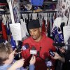Photo - Buffalo Bills running back Fred Jackson talks to reporters as players clean out their lockers at the NFL football team's practice facility, Monday, Dec. 31, 2012, in Orchard Park, N.Y. Buffalo finished the season 6-10. (AP Photo/Mike Groll)
