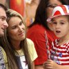 Kindergartener Jasmine Fazande talks to her mom and dad, Sean and Heather Fazande before a patriotic-themed Veteran\'s Day assembly Friday morning, Nov. 9, 2012, at Schwartz Elementary School at SE 104 and Anderson Road. Sean is currently serving in the U. S. Air Force and returned home from duty in Afghanistan in the past few weeks. Photo by Jim Beckel, The Oklahoman Photo by Jim Beckel, The Oklahoman