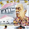 Photo - FILE - In this Jan. 4, 2006 file photo, boys play soccer in front a mural of Colombian Nobel laureate Gabriel Garcia Marquez in Aracataca, Colombia, the writer's hometown. Marquez died on Thursday, April 17, 2014 at his home in Mexico City. (AP Photo/Fernando Vergara, File)
