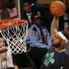 East Team\'s LeBron James, of the Miami Heat (6) heads to the hoop during the NBA All Star basketball game, Sunday, Feb. 16, 2014, in New Orleans. (AP Photo/Bill Haber)