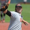 Photo - Oregon State's Ben Wetzler delivers a pitch against UNLV during an NCAA college baseball regional tournament game in Corvallis, Ore., Sunday, June 1, 2014. (AP Photo/Mark Ylen)