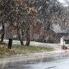 Large snow flakes fall in a neighborhood in Edmond, OK, Tuesday, February 12, 2013, By Paul Hellstern, The Oklahoman