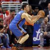 Oklahoma City\'s Nick Collison (4) takes and makes a 3-point shot in the second half during Game 6 of the Western Conference semifinals in the NBA playoffs between the Oklahoma City Thunder and the Los Angeles Clippers at the Staples Center in Los Angeles, Thursday, May 15, 2014. Photo by Nate Billings, The Oklahoman