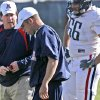 Coach Bill Bedenbaugh, left, during a practice at Arizona in 2007. Photo by A. E. Araiza/Arizona Daily Star via AP