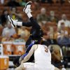 Photo -   Coppin State's Troy Franklin, left, and Texas' Javan Felix (3) chase the loose ball during the second half of an NCAA college basketball game, Monday, Nov. 12, 2012, in Austin, Texas. Texas won 69-46. (AP Photo/Eric Gay)