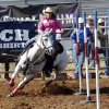 Loni Kay Lester, Gonzales, Texas, competes in the pole bending on day 4 of the International Finals Youth Rodeo on Wednesday, July 10, 2013 in Shawnee, Okla. Photo by Steve Sisney, The Oklahoman
