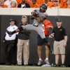 Oklahoma State\'s Josh Stewart (5) catches a pass during a college football game between Oklahoma State University (OSU) and West Virginia University at Boone Pickens Stadium in Stillwater, Okla., Saturday, Nov. 10, 2012. Oklahoma State won 55-34. Photo by Bryan Terry, The Oklahoman