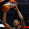 Photo - Oklahoma City Thunder's Kevin Durant dunks against Chicago Bulls during the first quarter of an NBA  basketball game Saturday, Jan. 10, 2009  in Chicago.(AP Photo/Nam Y. Huh)  ORG XMIT: CXA101