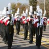 The Mighty Titan Band of Carl Albert High School marches in the Veterans Day parade on SE 15th St. in Midwest City, OK, Monday, November 11, 2013, Photo by Paul Hellstern, The Oklahoman