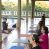 This March 2011 photo released by Just Love Photography shows a yoga session in Rincon, Puerto Rico, at a retreat created by Jessica Bellofatto of KamaDeva Yoga and Gina Bradley of Paddle Diva. The program is an example of active vacations tailored to travelers who value healthy lifestyles and new experiences. (AP Photo/Evelyn O\'Doherty/Just Love Photography)