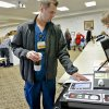Brad Zavy cast his vote as volunteer Vicki Newby looks on during election day on Tuesday, Nov. 6, 2012, in Yukon, Oklahoma. Photo by Chris Landsberger, The Oklahoman