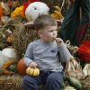 Cooper Shroyer, 2, takes a break at the Pumpkin Patch at McFarlin United Methodist Church in Norman, Oklahoma on Tuesday October 7, 2008. BY STEVE SISNEY, THE OKLAHOMAN