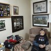McNiece is shown in the living room of his home. Jake McNiece, 93, was a paratrooper with 101st Airborne who parachuted behind enemy lines in northern France and led a team of men dubbed the