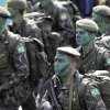 Photo - Brazilian Army soldiers take part in the military ceremony of Independence Day in Brasilia, Brazil, Saturday, Sept. 7, 2013. (AP Photo/Eraldo Peres)