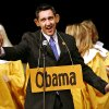 Bart Vleugels plays Barack Obama during a dress rehearsal for the annual Gridiron Club Show at Stage Center in Oklahoma City on Monday, Feb. 16, 2009. By John Clanton, The Oklahoman