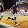 Oklahoma State\'s Justin Blackmon (81) runs through the end zone in front of Joseph Randle (1) after scoring a touchdown in the first quarter during a college football game between the Oklahoma State University Cowboys (OSU) and the Kansas State University Wildcats (KSU) at Boone Pickens Stadium in Stillwater, Okla., Saturday, Nov. 5, 2011. Photo by Nate Billings, The Oklahoman