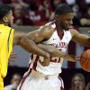 Baylor Bear\'s L.J. Rose (1) fouls Oklahoma Sooner\'s Cameron Clark (21) as the University of Oklahoma Sooners (OU) men play the Baylor University Bears (BU) in NCAA, college basketball at The Lloyd Noble Center on Saturday, Feb. 23, 2013 in Norman, Okla. Photo by Steve Sisney, The Oklahoman