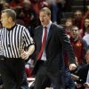 Cyclones\' head coach Fred Hoiberg reacts to play as the University of Oklahoma Sooners (OU) men defeat the Iowa State Cyclones (ISU) 87-82 in NCAA, college basketball at The Lloyd Noble Center on Saturday, Jan. 11, 2014 in Norman, Okla. Photo by Steve Sisney, The Oklahoman