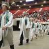 The valedictorians lead the processional during the Edmond Santa Fe Commencement at the Cox Convention Center in Oklahoma City, OK, Saturday, May 15, 2010. By Paul Hellstern, The Oklahoman