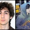 This combination of photos provided on Friday, April 19, 2013 by the Federal Bureau of Investigation, left, and the Boston Regional Intelligence Center, right, shows a suspect that officials have identified as Dzhokhar Tsarnaev, being sought by police in connection with Monday\'s Boston Marathon bombings. (AP Photo/FBI, BRIC)