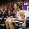 Whitney Hand waits to be introduced iat the start of the NCAA women\'s basketball tournament game between the University of Oklahoma and Pittsburgh at the Ford Center in Oklahoma City, Okla. on Sunday, March 29, 2009. PHOTO BY STEVE SISNEY, THE OKLAHOMAN