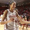 Oklahoma Sooners\' Nicole Griffin (4) leaves the court as the University of Oklahoma (OU) Sooners defeat the Oklahoma State Cowgirls 80-71 in women\'s college basketball at the Lloyd Noble Center on Saturday, Feb. 4, 2012, in Norman, Okla. Photo by Steve Sisney, The Oklahoman