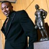 Tennessee\'s Eric Berry poses with the Jim Thorpe Award prior to the banquet at the National Cowboy and Western Heritage Museum on Monday. Photo by John Clanton, The Oklahoman