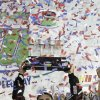 Cale Gale holds the trophy after winning the NASCAR Truck Series auto race at Homestead-Miami Speedway in Homestead, Fla., Friday, Nov. 16, 2012. (AP Photo/Alan Diaz)