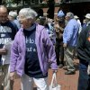 Anti-nuclear weapons activists, from left, Michael Walli, 64, Sister Megan Rice, 83, and Greg Boertje-Obed, 56, arrive for their trial on Monday, May 6, 2013, in Knoxville, Tenn. The activists, who call themselves