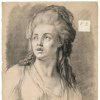 """Photo -  Alexandre Moitte's """"Attention,"""" a 1769 black-and-white chalk work on beige paper, is featured in the traveling exhibition """"Gods and Heroes: Masterpieces From the Ecole des Beaux-Arts, Paris."""" Image provided by the American Federation of Arts"""
