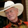 In this Thursday, Oct. 9, 2008 photo, actor Larry Hagman listens to a reporter\'s question while visiting the Southfork Ranch in Parker, Texas, made famous in the television show
