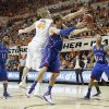 Oklahoma State \'s Philip Jurick (44) and Kansas\' Jeff Withey (5) fight for the loose ball during the college basketball game between the Oklahoma State University Cowboys (OSU) and the University of Kanas Jayhawks (KU) at Gallagher-Iba Arena on Wednesday, Feb. 20, 2013, in Stillwater, Okla. Photo by Chris Landsberger, The Oklahoman