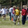 Elementary school students participate in a walk-a-thon at Orvis Risner Elementary School in Edmond, OK, Friday, May 2, 2008. BY PAUL HELLSTERN, THE OKLAHOMAN
