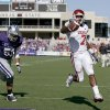 Photo - OU's DeMarco Murray scores a touchdown in front of Ulla Pomele of Kansas State during the college football game between the University of Oklahoma and Kansas State University in Manhattan, Kansas, Saturday, October 25, 2008.  BY BRYAN TERRY, THE OKLAHOMAN   ORG XMIT: KOD