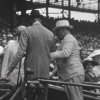 Photo - In this image taken from film shot by former Major League Baseball player Jimmie DeShong and acquired by the Pennsylvania Historical & Museum Commission, President Franklin D. Roosevelt, center right, walks to his seat with the aid of an assistant at the Major League Baseball All-Star game on July 7, 1937 at Griffith Stadium in Washington. The rare footage helps dispel the myth that he tried to hide his disability and shows the courage it took to go about his daily life, experts said Friday, May 16, 2014. (AP Photo/Pennsylvania Historical & Museum Commission)