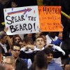 Thunder fans taunt Houston\'s James Harden (13) as he leaves the court during the NBA basketball game between the Houston Rockets and the Oklahoma City Thunder at the Chesapeake Energy Arena on Wednesday, Nov. 28, 2012, in Oklahoma City, Okla. Photo by Chris Landsberger, The Oklahoman